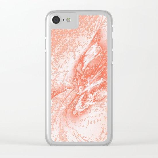 Splatter in Guava Clear iPhone Case
