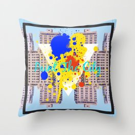 paint the city Throw Pillow