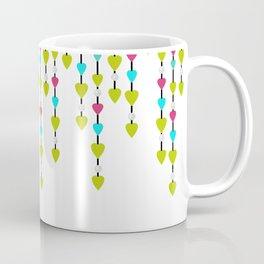 Pearl beads and hearts . Coffee Mug