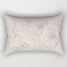 Vintage Map of The Pyramids of Giza (1856) Rectangular Pillow