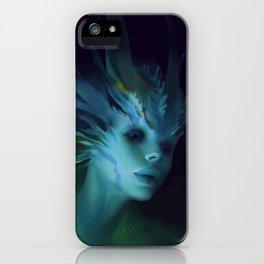 Mermaid portrait iPhone Case