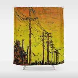 Maple Sunset Shower Curtain