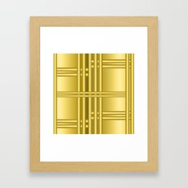 Abstract background with gold bars Framed Art Print