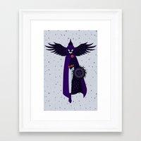 raven Framed Art Prints featuring RAVEN by badOdds