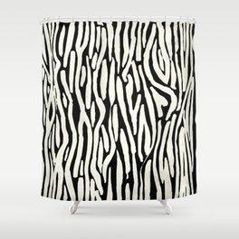 Black And Cream Shower Curtain. Zebra Stripes Tribal Black and Cream Shower Curtain paint brushstrokes shower curtains  Society6