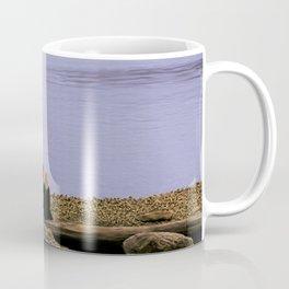 Conversation on the log - oil color painting Coffee Mug