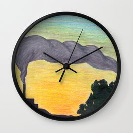 Ash Sunset in the Land of the Midnight Sun Wall Clock