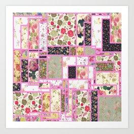 Quilt patterns style Art Print