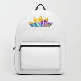 Abstract Colored Floral Believe In The Power Of The Universe Backpack