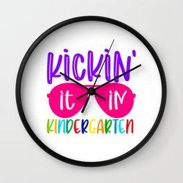 Kickin it in kindergarten Wall Clock