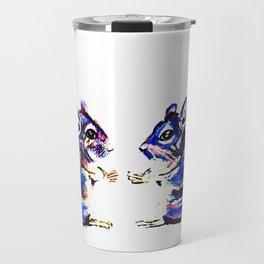 When Acrylic Chinchilla meets Colour Pencil Chinchilla Travel Mug