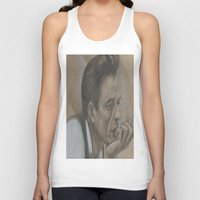 johnny cash Tank Tops featuring Johnny Cash by Tex Bigrancher