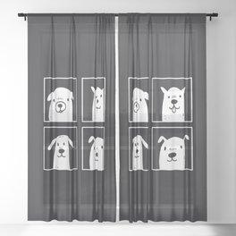 dog dog dog dog Sheer Curtain