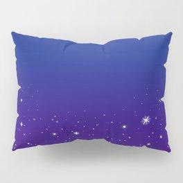 Falling Stars (Blue to Purple Ombre) Pillow Sham