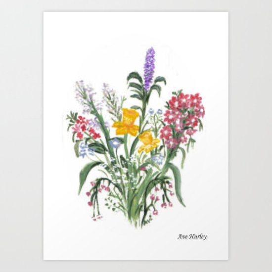 Spring Bouquet by Ave Hurley Art Print