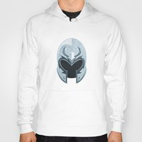 magneto Hoodies featuring Magneto helmet only by Tony Vazquez