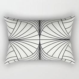 Diamond Series Inter Wave Charcoal on White Rectangular Pillow