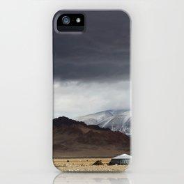 mongolian landscape iPhone Case