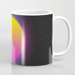 Retro 80's Neon Sunrise Coffee Mug