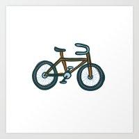 bike Art Prints featuring Bike by Jason Grube