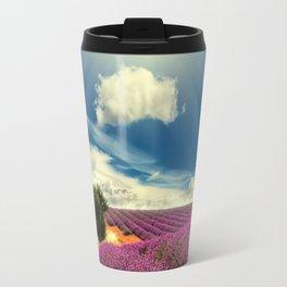 Beautiful image of lavender field Travel Mug