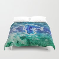 minerals Duvet Covers featuring MINERAL MAZE by Catspaws