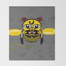 Hei Tiki Bee Toy Throw Blanket