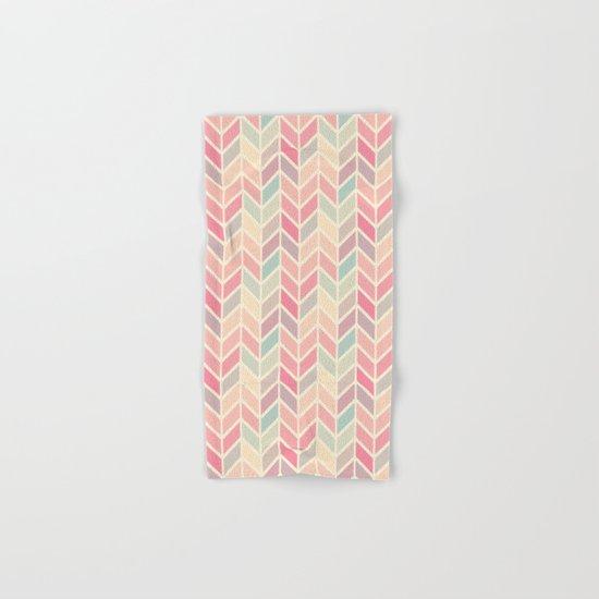Pastel Chevron Geometric Pattern Hand & Bath Towel