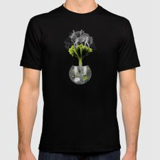 There's ecology in every drop Mens Fitted Tee Black SMALL