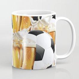 Two Glasses of beer and soccer ball Coffee Mug