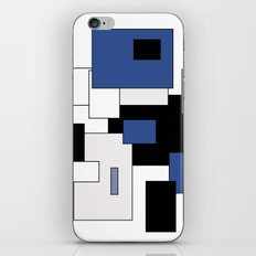 Squares -  gray, blue, black and white. iPhone & iPod Skin