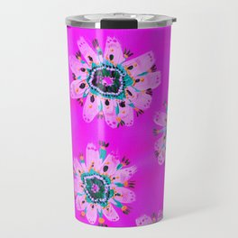 Neon Lilly Lace Rose Travel Mug