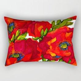 Bold Poppies Rectangular Pillow