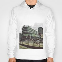 oslo Hoodies featuring Modern city center of Oslo in Norway by Sunsetter Impact