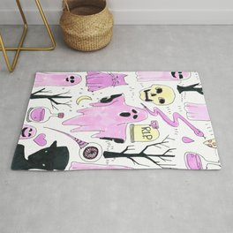 ghost party Rug