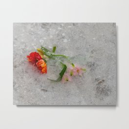 pretty frozen Metal Print