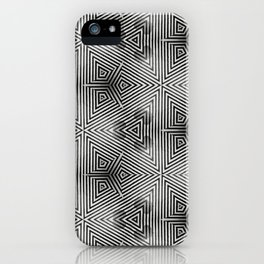It's Alive! Black and White Op-art iPhone Case