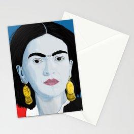 Frida Blue Background Stationery Cards