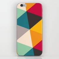 triangles iPhone & iPod Skins featuring Triangles by Gary Andrew Clarke