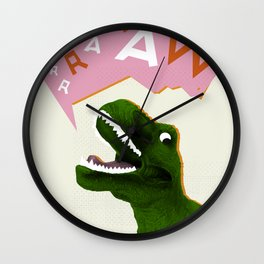 Dinosaur Raw! Wall Clock