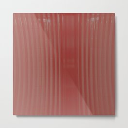 red striped glass subway tile Metal Print