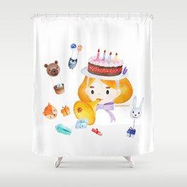 A happy day in Wonderland Shower Curtain