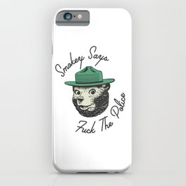 Smokey Says | Fuck The Police iPhone Case
