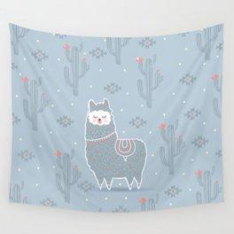 Alpaca winter Wall Tapestry