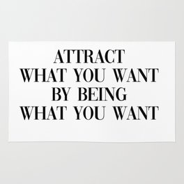 attract what you want Rug