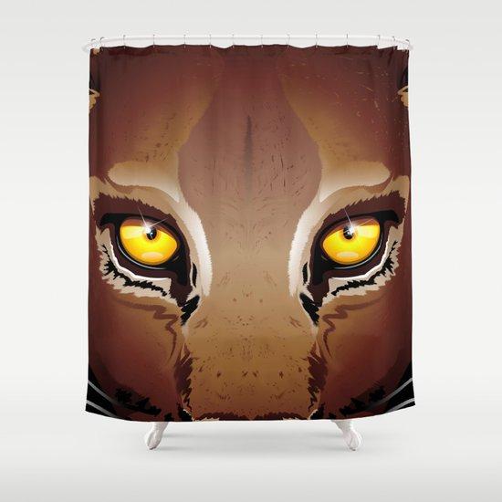 Wild Puma Eyes Shower Curtain