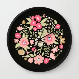 Colorful floral bouquet Wall Clock