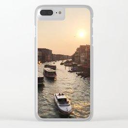 A Morning In Venice at Ponte di Rialto Clear iPhone Case