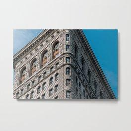 Flatiron Building in Winter Metal Print
