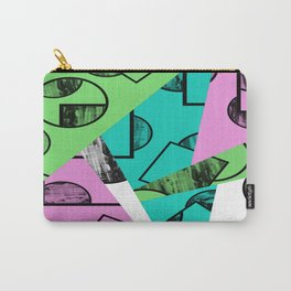 Broken Pieces - Pastel coloured, geometric, textured abstract Carry-All Pouch